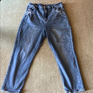 American Eagle Distressed Curvy Mom Jeans